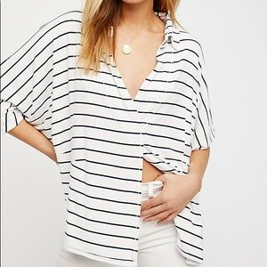 Free People Can't Fool Me Striped Tee Size M
